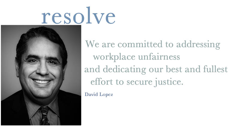 David Lopez | Employment discrimination lawyer Washington DC