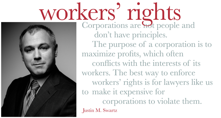 Justin Swartz - Class Action Employment lawyer New York City